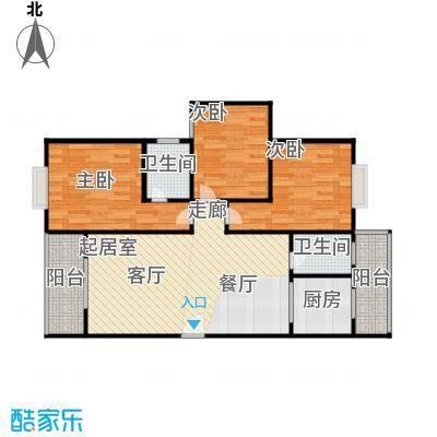 水岸新城3房2厅2卫(J2)户型