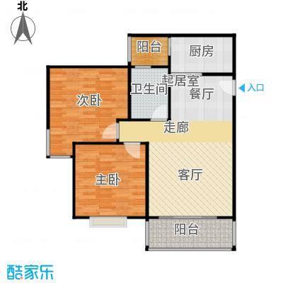 水岸新城2房2厅1卫(N2)户型