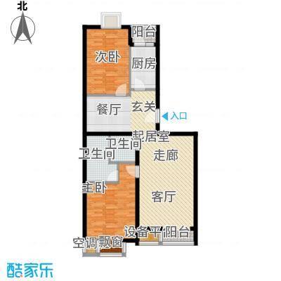 丽港・美度两室两厅两卫户型