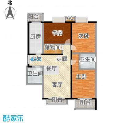 国风北京142.00㎡E3户型三室两厅两卫户型LL