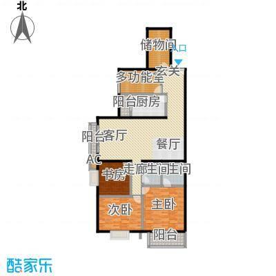 国风北京169.00㎡F4户型四室两厅两卫户型LL