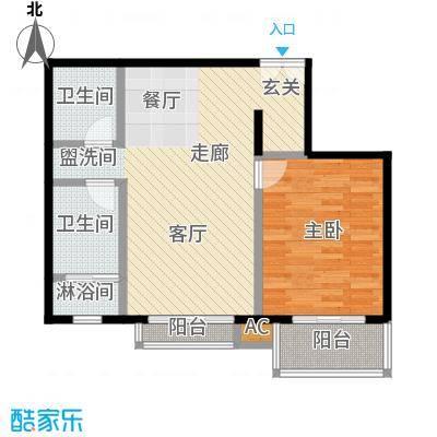 国风北京81.00㎡E2户型一室两厅一卫户型LL