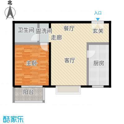 国风北京84.00㎡C2户型一室两厅一卫户型LL