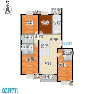 国风北京173.00㎡B户型四室两厅三卫户型LL