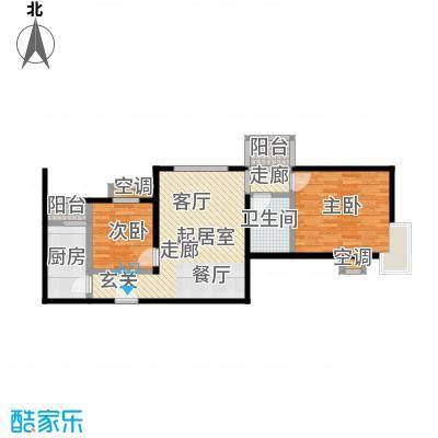 梵谷水郡(ZAMA三期)A户型两室两厅一卫户型