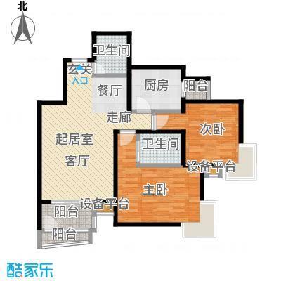 梵谷水郡(ZAMA三期)D区4号楼B户型