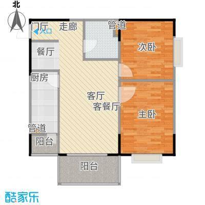 优点社区89.84㎡B2-2户型两室两厅户型