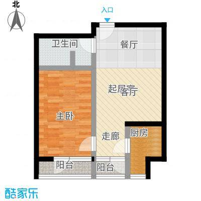 10am・新坐标1室1厅1卫1厨户型