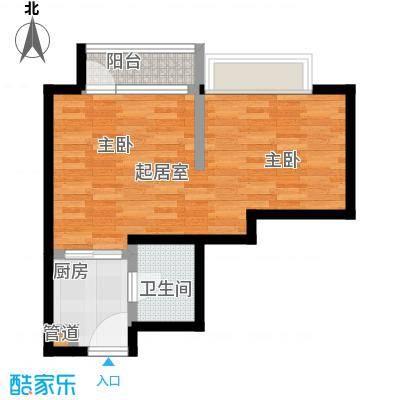 10am・新坐标45.00㎡1室1厅1卫1厨户型