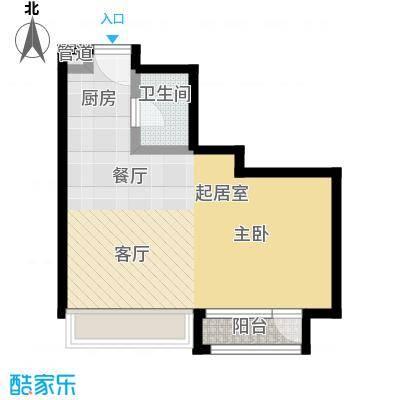 10am・新坐标45.00㎡阳光系列户型 1室1厅1卫1厨户型