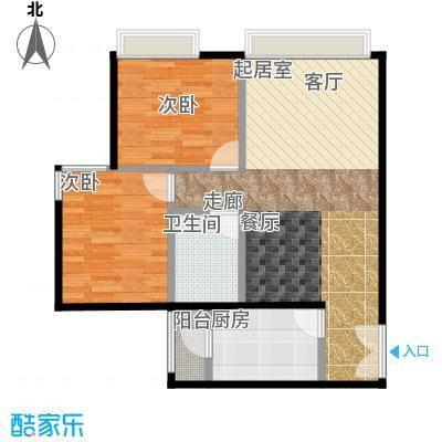 宝星・华庭69.49㎡9#E户标准层户型10室
