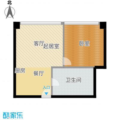 大悦公寓91.37㎡N04户型10室