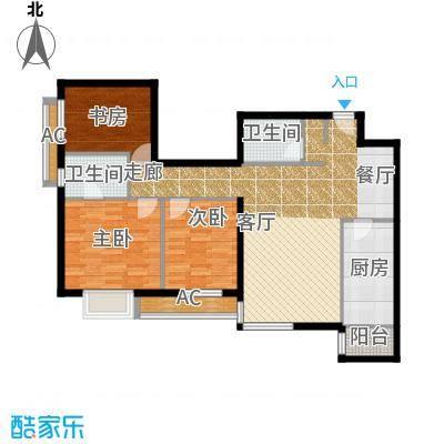 半岛公寓7-1B户型三居户型
