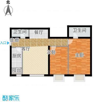 半岛公寓7-2K二居户型