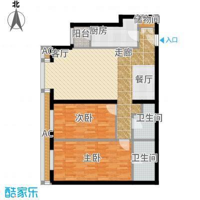 半岛公寓8-1C1二居户型