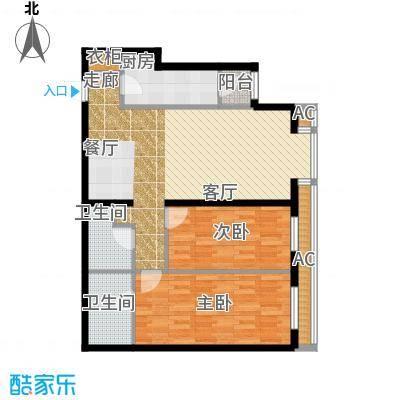 半岛公寓8-1qC1二居户型