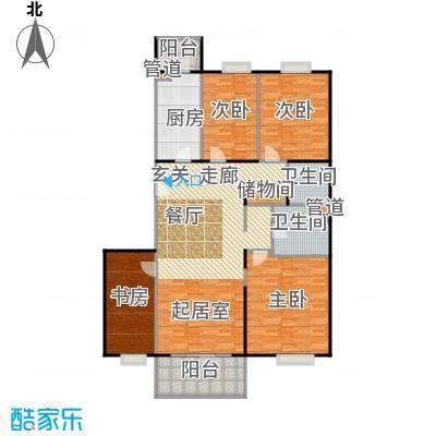 阳春光华家园156.00㎡四室二厅二卫户型