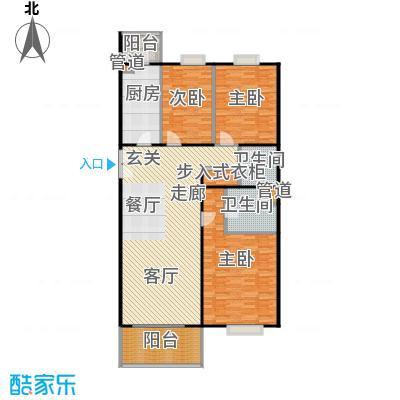 阳春光华家园142.00㎡三室二厅户型