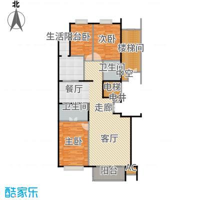 金晖嘉园140.64㎡三室二厅户型