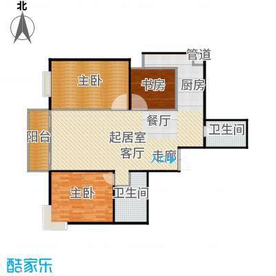 沁春家园117.51㎡三期C户型3室2厅2卫户型