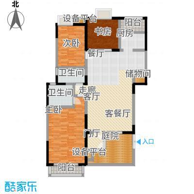 大雄・郁金香舍三室两厅两卫 户型