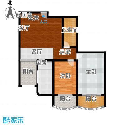 朝阳嘉园112.75㎡二室一厅一卫户型