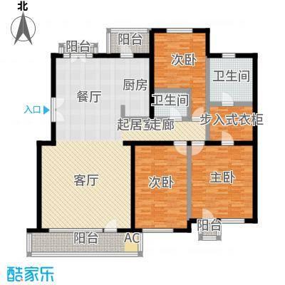 果岭里(CLASS)三室二厅二卫一厨户型