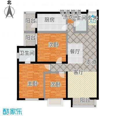 碧水星阁137.07㎡3室2厅2卫1厨E户型