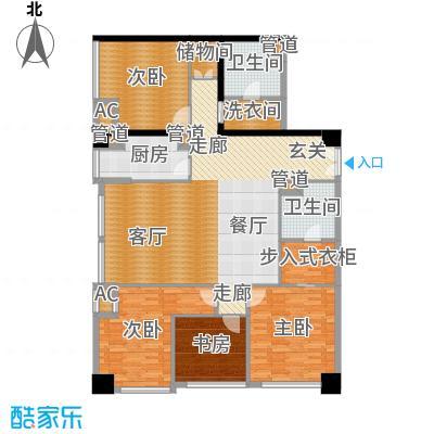 北京香颂A户型三室二厅二卫户型