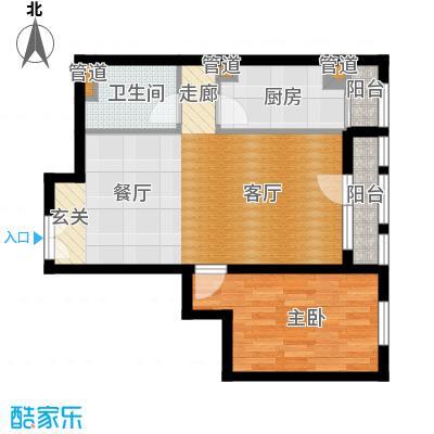 北京香颂精品公馆B反户型一室两厅一卫户型