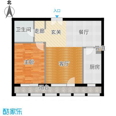 北京香颂精品公馆D户型一室一厅一卫户型
