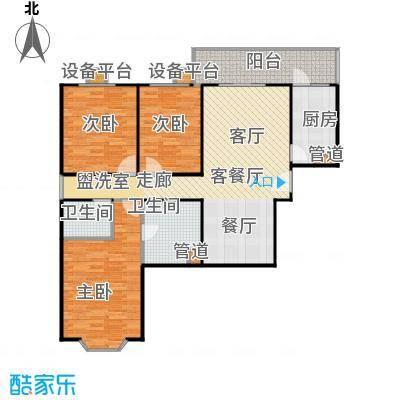 甘露家园120.94㎡3室2厅2卫1厨户型