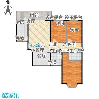 甘露家园114.66㎡3室2厅2卫1厨户型