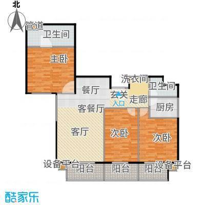 甘露家园135.15㎡3室2厅2卫1厨户型