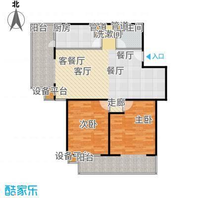 甘露家园96.71㎡2室2厅1卫1厨户型