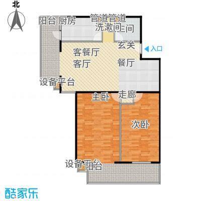 甘露家园108.15㎡2室2厅1卫1厨户型