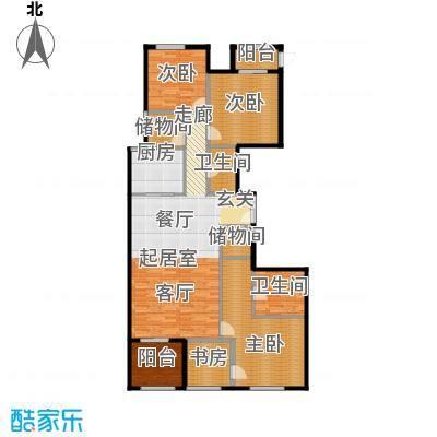 唐宁ONE145.34㎡1号楼中间户型10室
