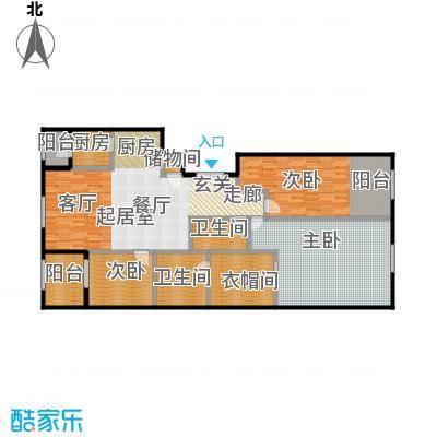 唐宁ONE180.00㎡1号楼2单元三室户型10室
