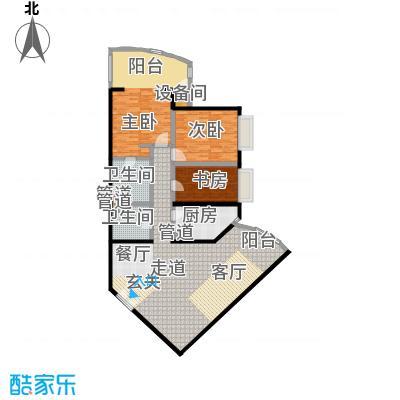 中国第一商城169.08㎡G户型三室两厅两卫户型
