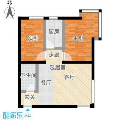 望京・雅特住区72.27㎡二室二厅一卫一橱(已售完)户型