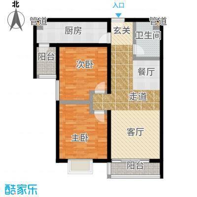 阿曼寓所94.00㎡1楼B-2户型两室两厅一卫户型