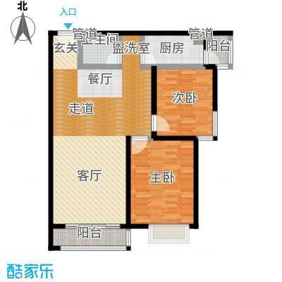 阿曼寓所98.00㎡3-q户型两室两厅户型