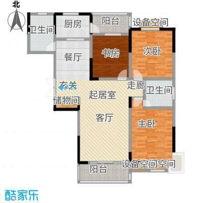 益阳国色天香双阳台设计品质生活户型3室2卫1厨