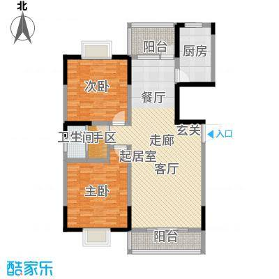 旺佳华府10A―A户型2室1卫1厨