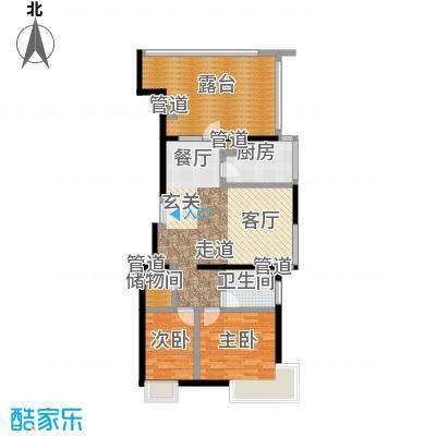 A派公寓88.41㎡4号楼D户型