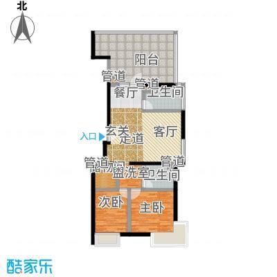 A派公寓90.14㎡3号楼D户型