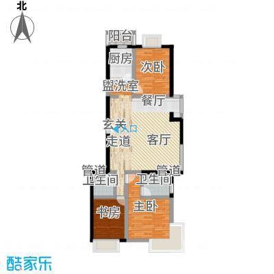 A派公寓116.16㎡4号楼B户型