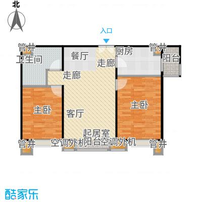 CBD总部公寓91.52㎡A2户型二室二厅一卫户型