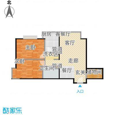 澳洲康都94.78㎡1单元D户型两(2.5)室两厅一卫户型