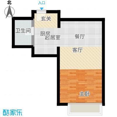 10am・新坐标40.00㎡海洋系列户型 1室1厅1卫1厨户型